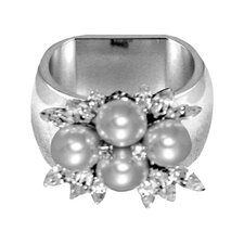 4 Pearl Napkin Ring (Set of 4)