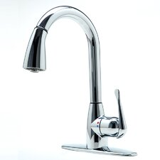Bell Single Handle Deck Mounted Standard Kitchen Faucet with Pull Down