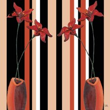 Crimson Tiger I Graphic Art on Wrapped Canvas
