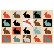Colorful-Baby-Rabbits 10000 by Mark Ashkenazi Giclee Painting Print