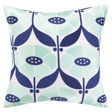 Elizabeth Olwen Full Bloom Embroidered Throw Pillow