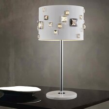 "Shadow 4 Light 19"" Table Lamp with Drum Shade"