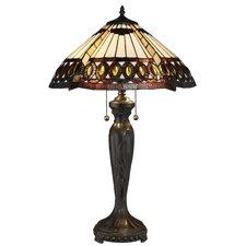 "Serena d'italia 25"" H Table Lamp with Bowl Shade"