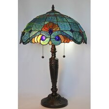 "Serena d'italia 25"" H Table Lamp with Bowl Shade"