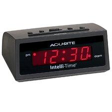 """AcuRite 6"""" Amber Intellitime Alarm Clock"""