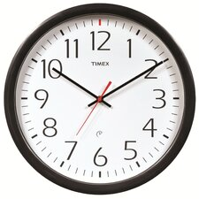 "AcuRite 14.5"" Timex 5-Year Set and Forget Wall Clock"