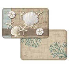 Linen Shells Reversible Place Mat