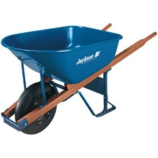 6 Cubic Steel Wheelbarrow
