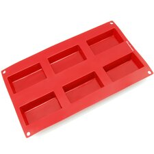 6 Cavity Rectangle Silicone Mold Pan
