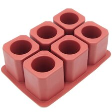 6 Cavity Square Ice Shot Glass Silicone Mold Pan