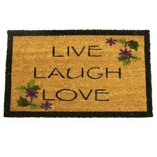 Live, Laugh, Love Novelty Doormat