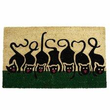Purrrrr! Cat Welcome Animal Doormat