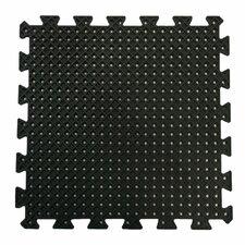 """Eco-Drain"" Interlocking Rubber Tile Mat (Set of 4)"