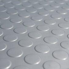 """Metallic """"Coin-Grip"""" Silver 4ft x 25ft Flooring Mat"""