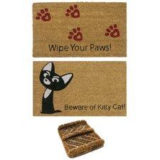 3 Piece Cat Lovers Doormat Set (Set of 3)