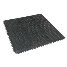 Revolution Diamond-Plate Interlocking Rubber Tile