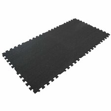 """Z-Cycle Tiles"" Interlocking Protective Flooring Rubber Mat (Set of 16)"