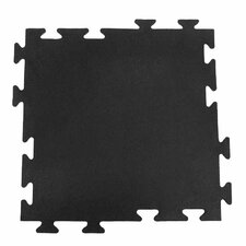 """Armor-Lock Fitness"" Interlocking Rubber Tile Gym Mat (Set of 6)"