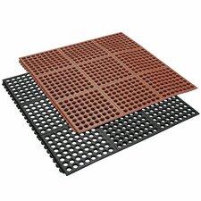 """""""Dura-Chef Interlock"""" Kitchen Comfort Rubber Floor Mat (Set of 2)"""