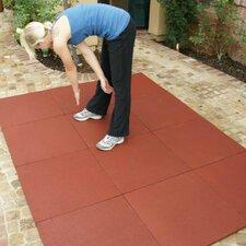 """Eco-Sport"" Interlocking Flooring Rubber Tile (Set of 12)"
