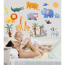 Jungle Adventure Cutout Wall Decal