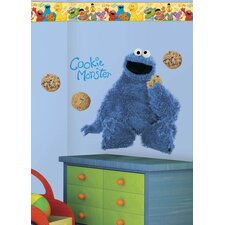 Sesame Street Cookie Monster Room Makeover Wall Decal