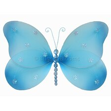 Butterfly Hanging Sparkle Nylon 3D Wall Decor