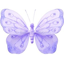 Butterfly Hanging Shimmer Nylon 3D Wall Decor