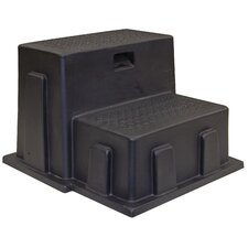 2-Step Plastic All-Purpose Utility Step Stool with 350 lb. Load Capacity