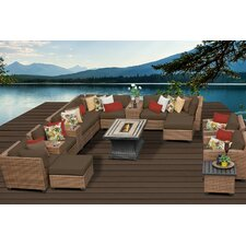 Laguna 17 Piece Fire Pit Seating Group with Cushion