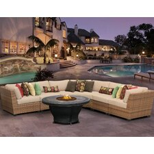 Laguna 6 Piece Fire Pit Seating Group with Cushion
