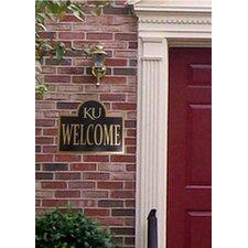 University of Kansas Collegiate Logo Mounted Welcome Plaque