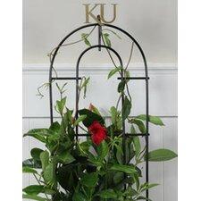 University of Kansas Collegiate Logo Ribbon Style Plant Trellis