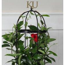 University of Kansas Collegiate Logo Round Style Plant Trellis