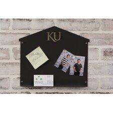 University of Kansas Collegiate Logo Small Magnetic Message Board, 12' x 12'