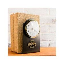 University Collegiate Logo Desk Clock