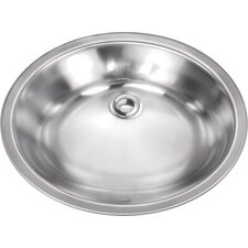 "19.13"" x 16.13"" Stainless Steel 18 Gauge Bar Sink"