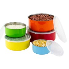 10 Piece Colorful Stainless Steel Mixing Bowl Set