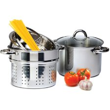 4 Piece 8-qt. Pasta Cooker Set with Lid