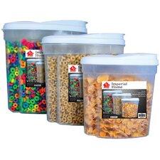 3 Piece Plastic Food Storage Container Set