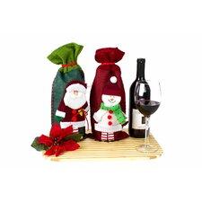 2 Piece Christmas Wine Gift Bag Set