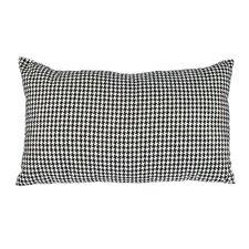 Delano Décor Woven Houndstooth Cotton Lumbar Pillow