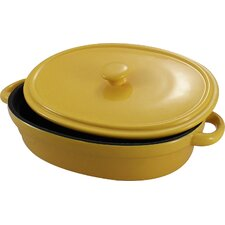 Non-Stick Oval Baking Dish with Lid