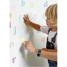 Lowercase Pastel Alphabet Nursery and Bedroom Wall Decal