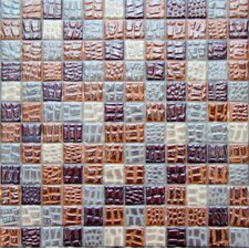 """Petra 1"""" x 1"""" Recycle Glass Mosaic Tile in Multi-Toned"""