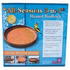All Seasons 3-in-1 Heated Bird Bath