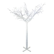 7.5' Commercial Acrylic Ice Christmas Tree with LED Cool White Lights