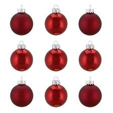 Traditional Glass Ball Christmas Ornament (Set of 9)
