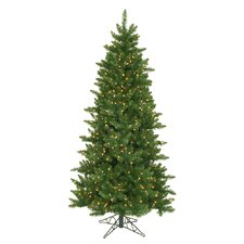 12' Eastern Pine Slim Artificial Christmas Tree with Clear Lights