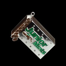 Junior Mints Candy Bar Logo Christmas Ornament with European Crystal